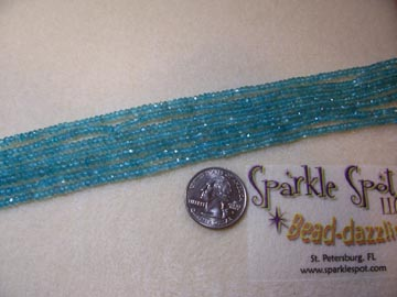 Gem Quality BLUE APATITE Faceted Rondelle