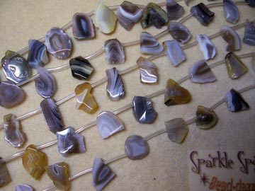BOTSWANA AGATE Freeform Slices Med
