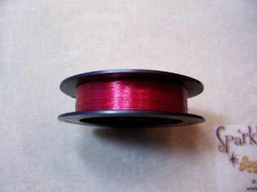 BRICK RED COLORED Beading Thread 6lb 50 yd