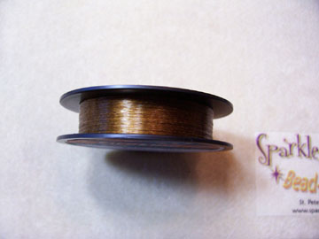 *NEW! GOLDEN WALNUT COLORED Beading Thread 6lb 50 yd