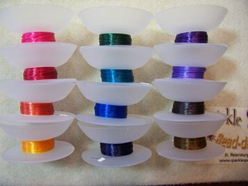 Half Packs Beading Thread in COLORS MULTI COLORS on Bobbins