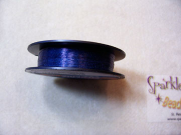 *NEW! MIDNIGHT BLUE COLORED Beading Thread 6lb 50 yd