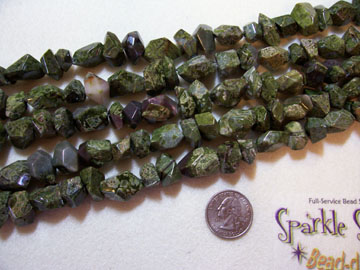 GREEN JASPER Lg Rough Faceted Nuggets