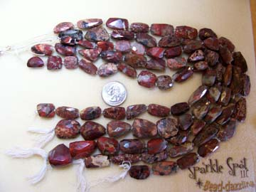 Red POPPY JASPER Faceted Nuggets