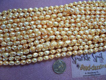 FW PEARL PEACH color 7-8mm Lg Potato