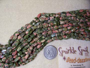 UNAKITE Facet Chunky Nugget 8-12mm
