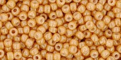 BEIGE DARK LUSTER OPAQUE Toho TRIANGLE Seed Beads Sz 11