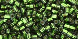 OLIVINE SILVER LINED Toho Cube Square 1.5mm
