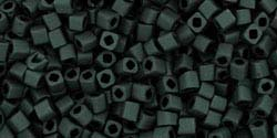 3mm JET BLACK MATTE OPAQUE Toho Cube Square