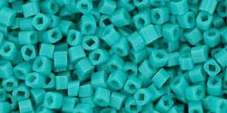 3mm TURQUOISE OPAQUE Toho Cube Square
