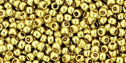 YELLOW GOLD PERMANENT FINISH GLVNZD Toho Round Sz 11