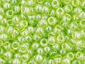LIME GREEN TRANS LUSTERED Toho Round Sz 11