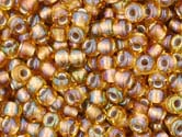 TOPAZ RAINBOW GOLD LINED Toho TREASURES Cylinder Sz 11
