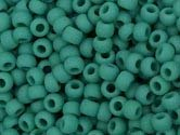 TURQUOISE GREEN FROSTED OPAQUE Toho Round Sz 11