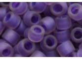 ROSALINE RAINBOW FROSTED OPAQUE PURPLE LINED Toho Round Sz 11
