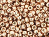 ROSE GOLD PERMANENT FINISH GALVANIZED Toho Round Sz 11
