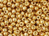 GOLD STARLIGHT GALVANIZED PERMANENT FINISH Toho Round Sz 15