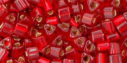 RUBY SILVER LINED Toho TRIANGLE Seed Beads Sz 11
