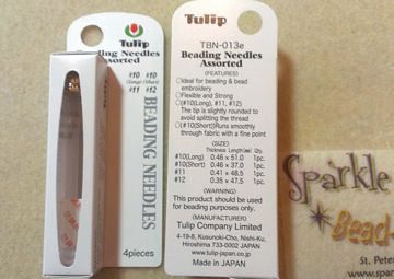 *NEW TULIP BEADING NEEDLES ASSORTMENT 4 Needles